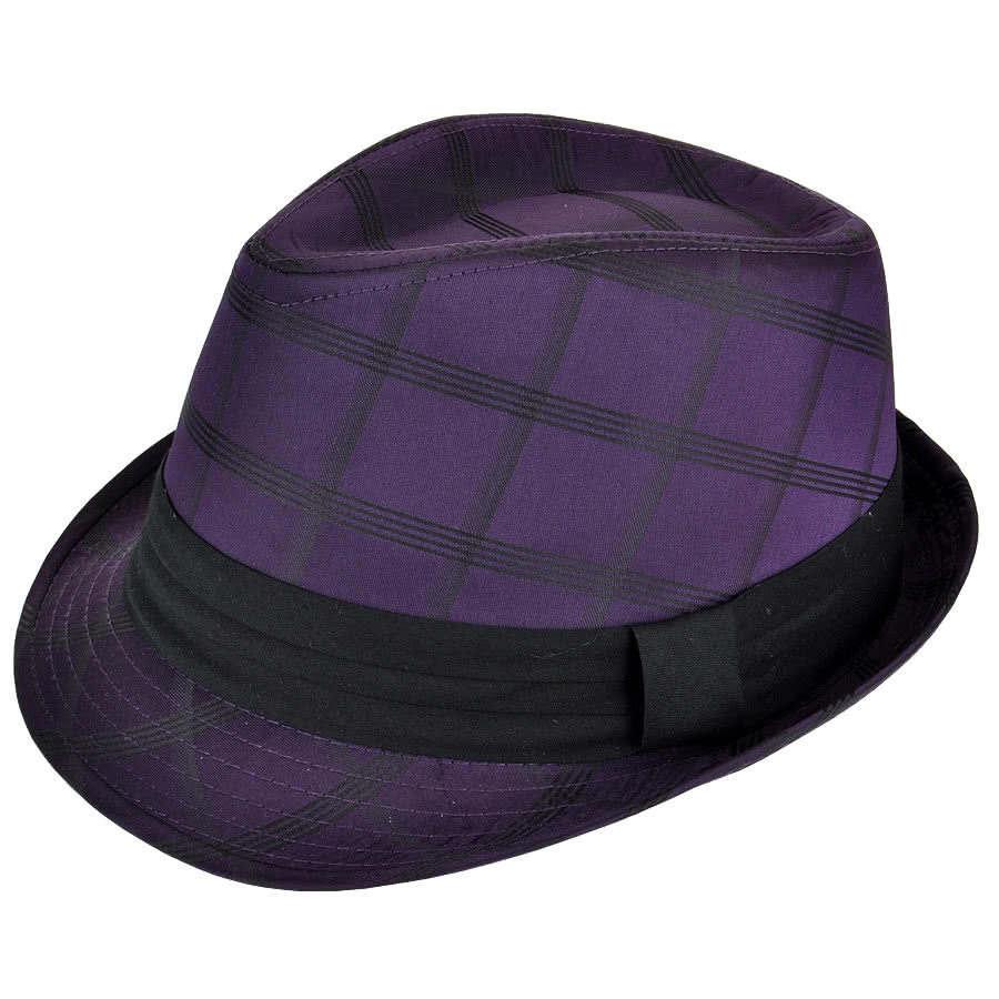 Blue Banana Trilby Hat (Purple)