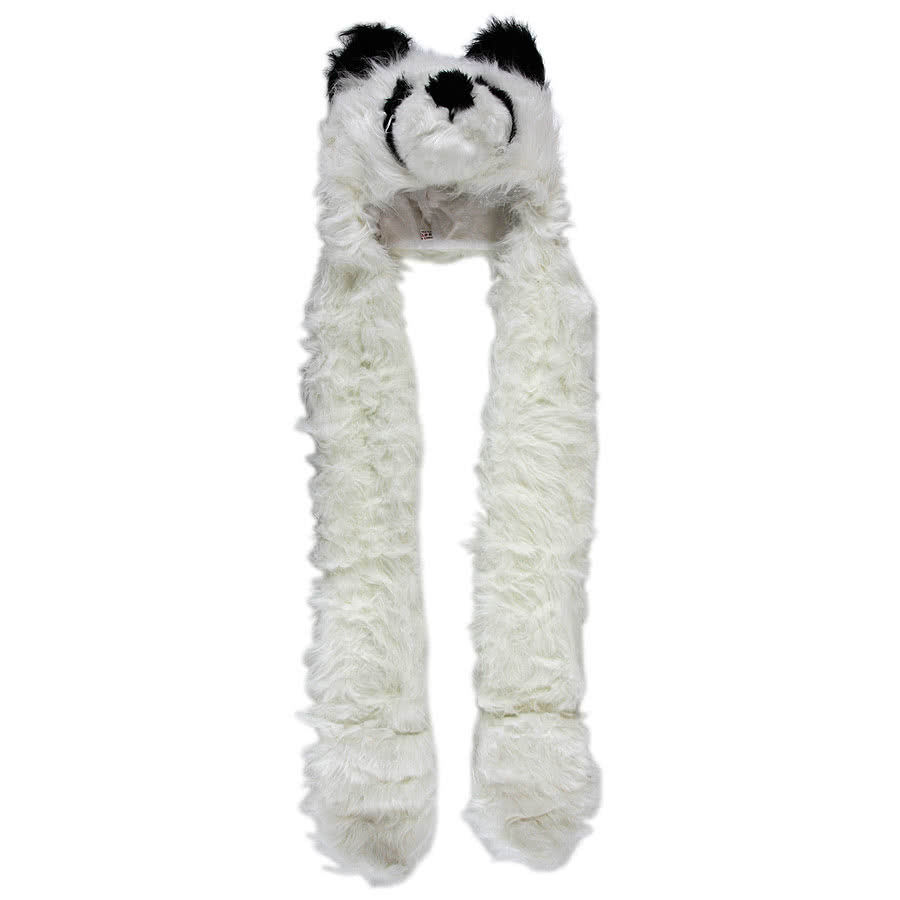 Blue Banana Panda Scarf Hat (White)