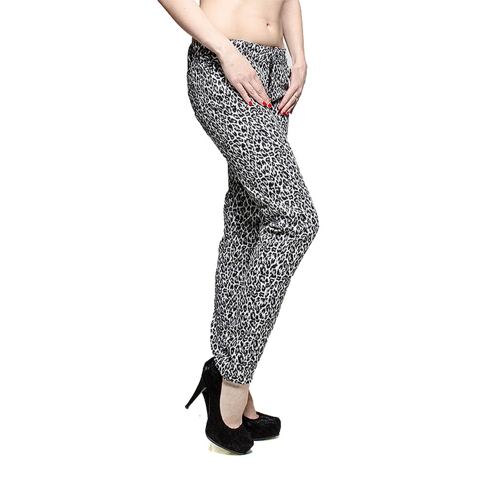Bleeding Heart Leopard Skinny Fit Jeans (Grey)