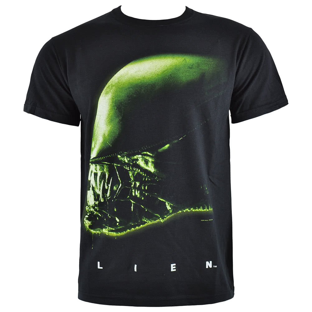 Alien Head T Shirt (Black)