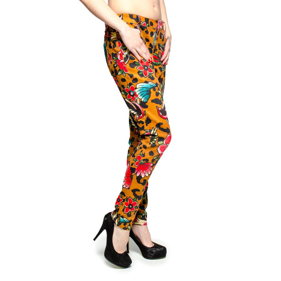 Iron Fist Lounge Leopard Skinny Jeans (Yellow)