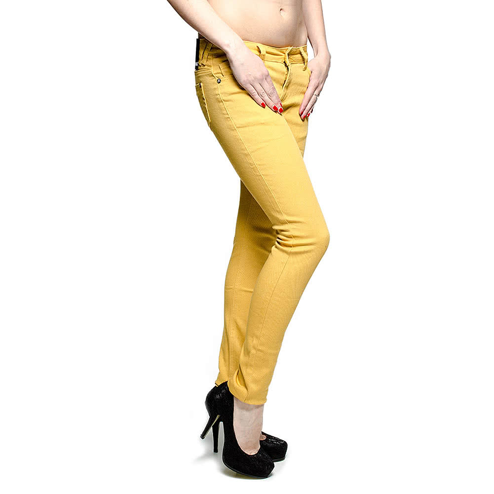 Criminal Damage Skinny Fit Jeans (Mustard Yellow)