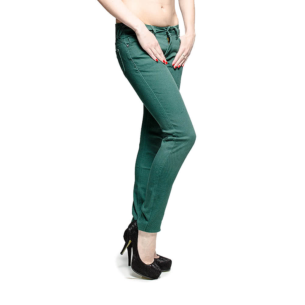 Criminal Damage Skinny Fit Jeans (Pine Green)