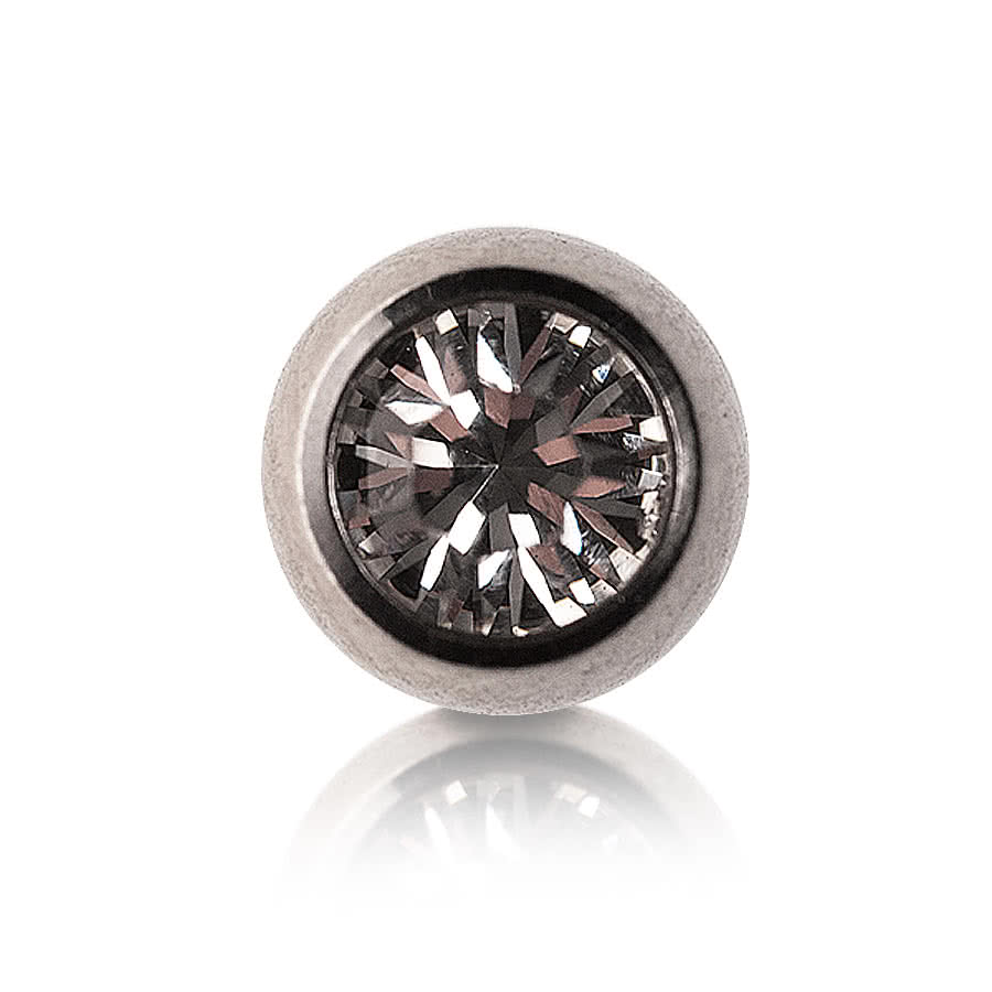 Steel Jewelled 5mm Ball (Crystal)