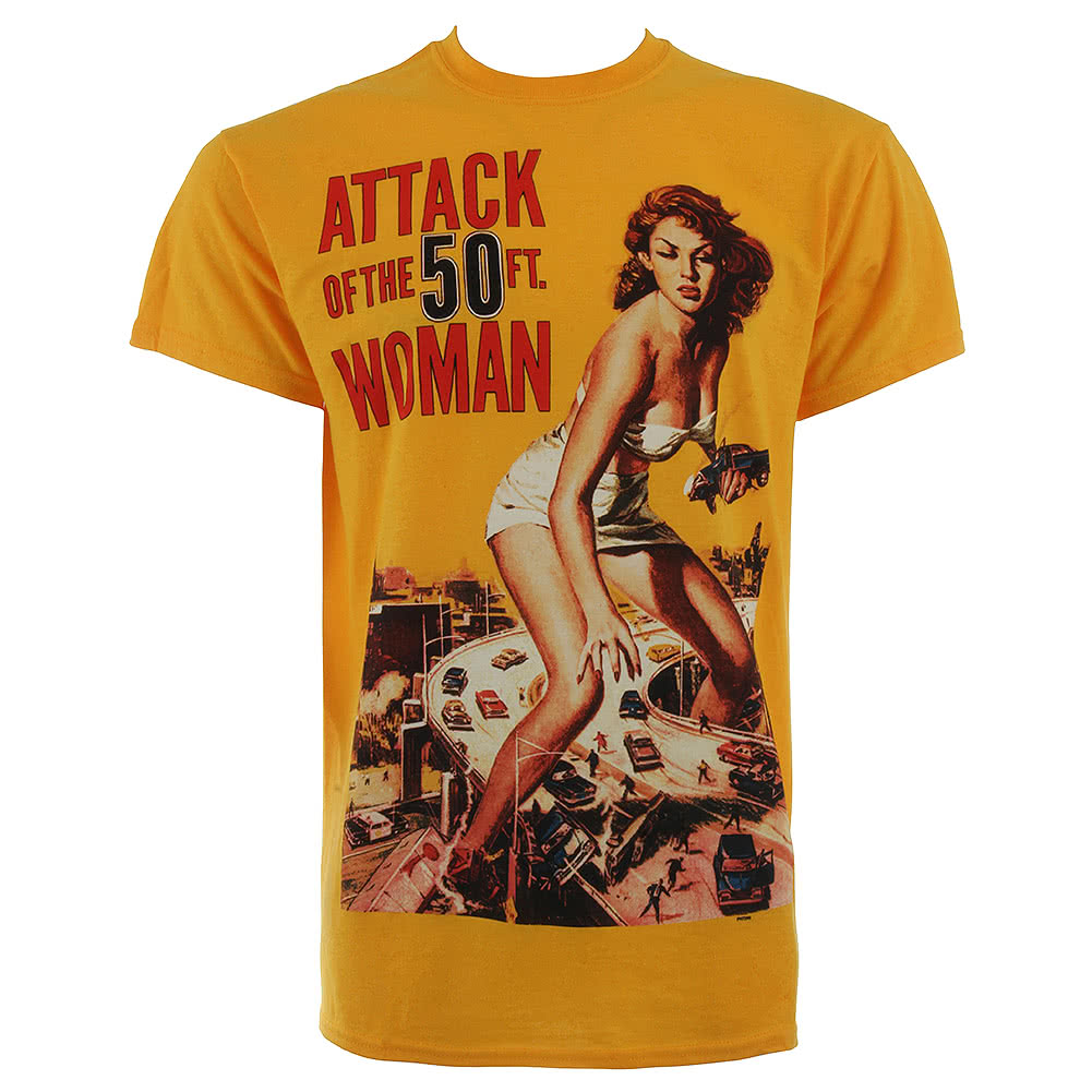 Attack Of The 50ft Woman T Shirt (Yellow)