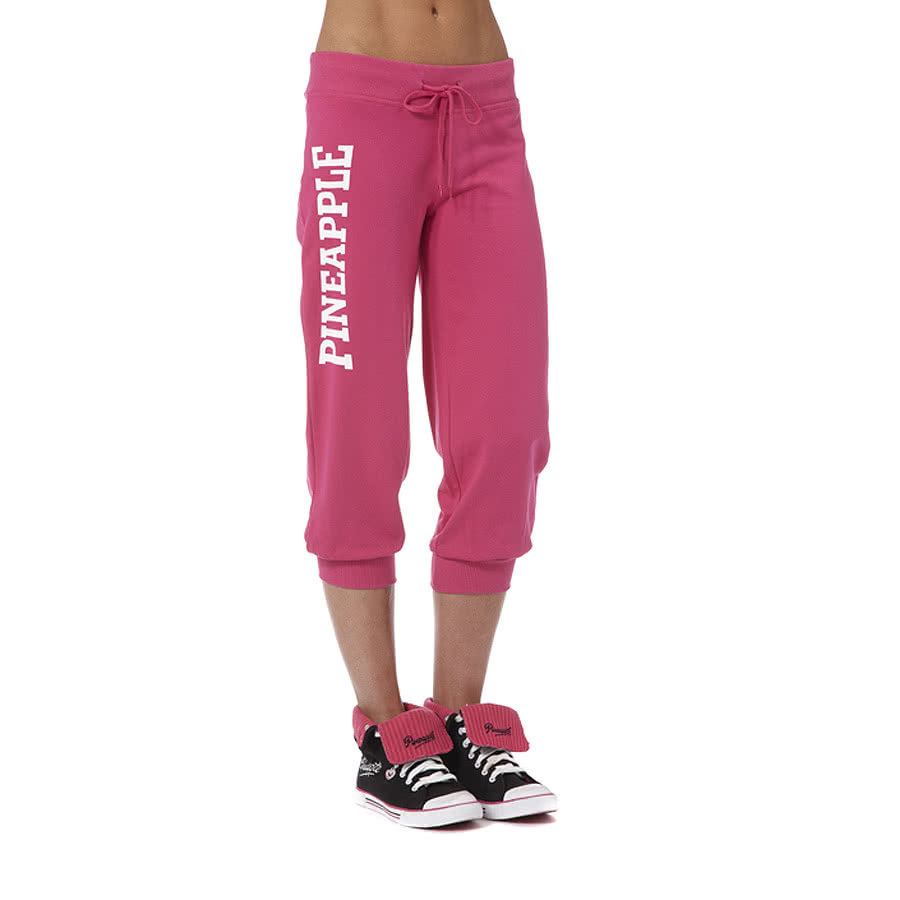 Pineapple Stamp Crop Pants (Pink)