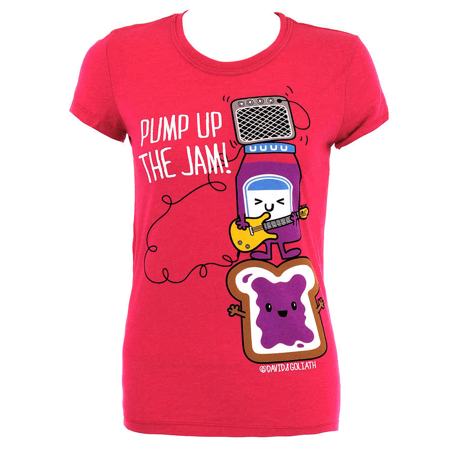 David and Goliath The Jam Skinny Fit T Shirt (Pink)