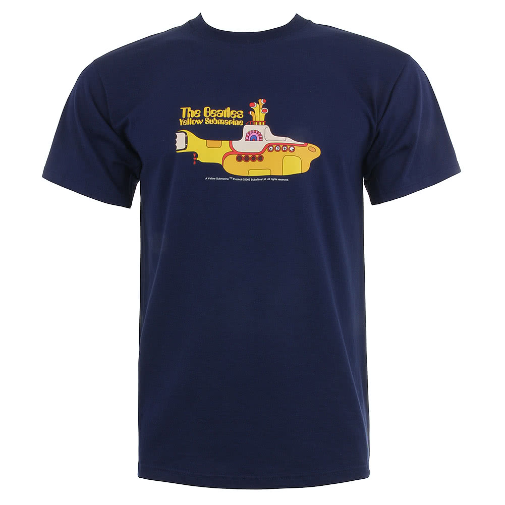 The Beatles Submarine T Shirt (Navy)