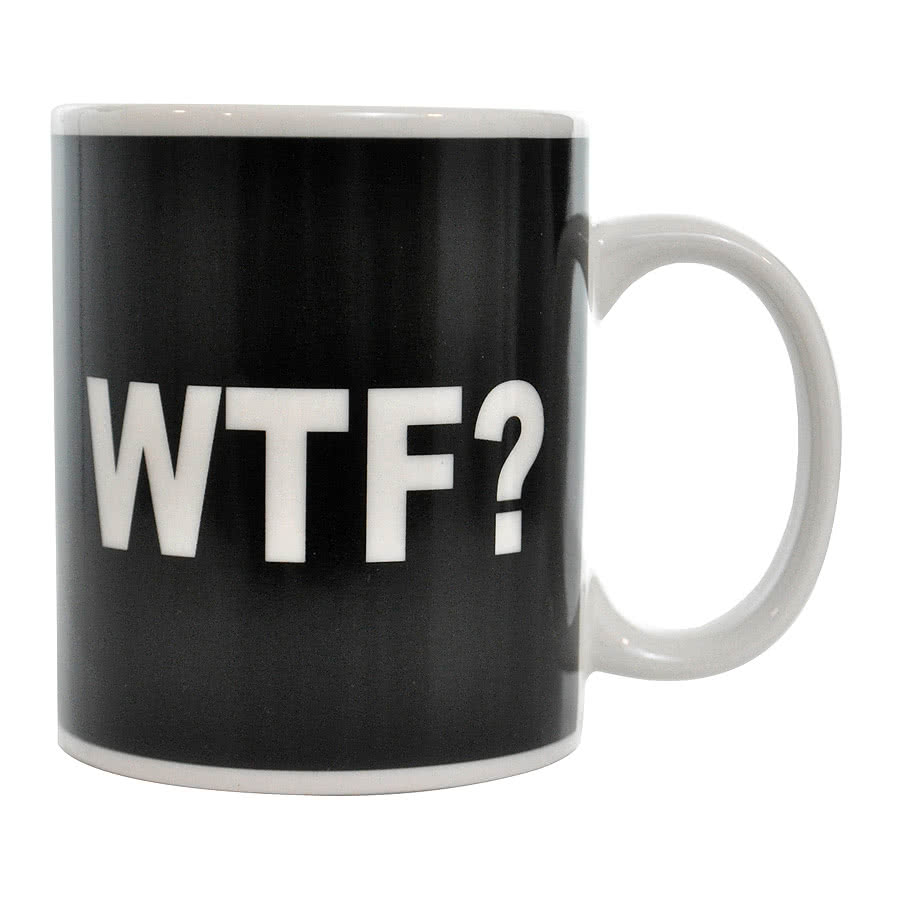 Blue Banana WTF? Mug (Black/White)