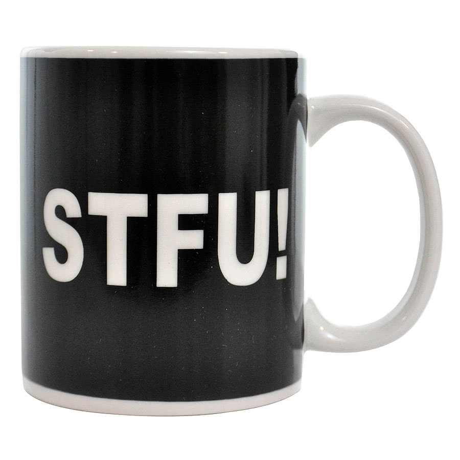 Blue Banana STFU! Mug (Black/White)