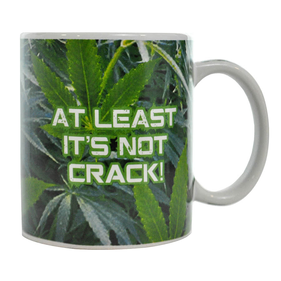 Blue Banana Not Crack Mug (White/Green)