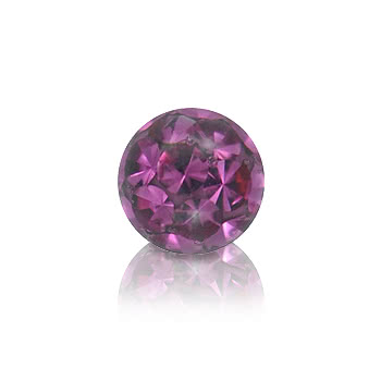 Crystal 3mm Glitter Ball (Fuchsia)