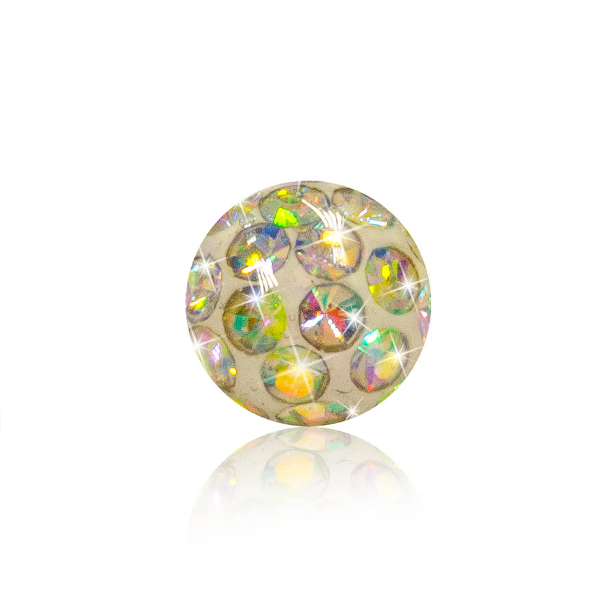 Crystal 3mm Glitter Ball AB (Crystal)