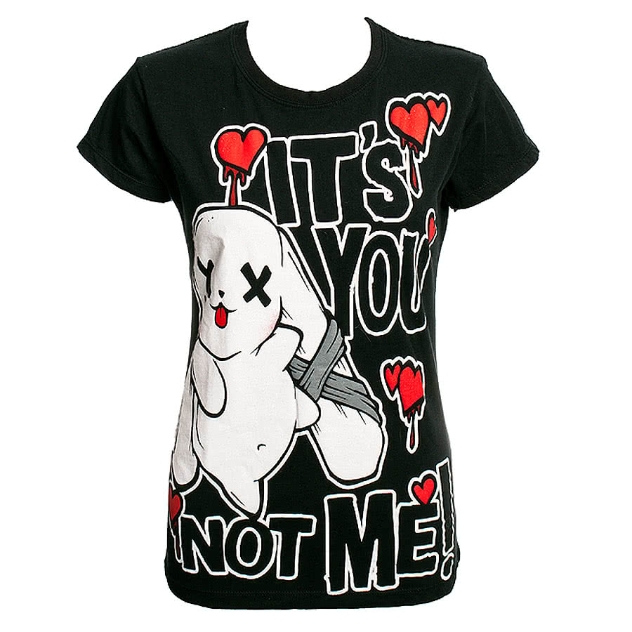 Luv Bunnys It's you Skinny T-shirt (Black)