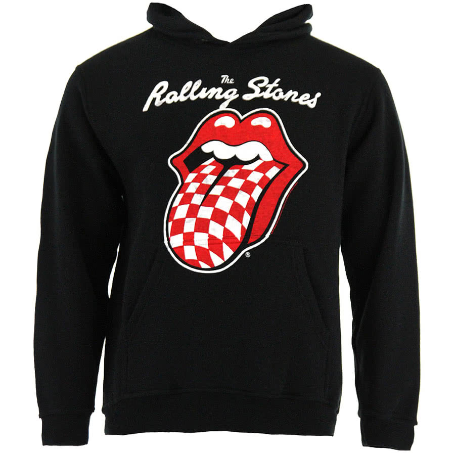 Rolling Stones Checker Tongue Hoodie (Black)