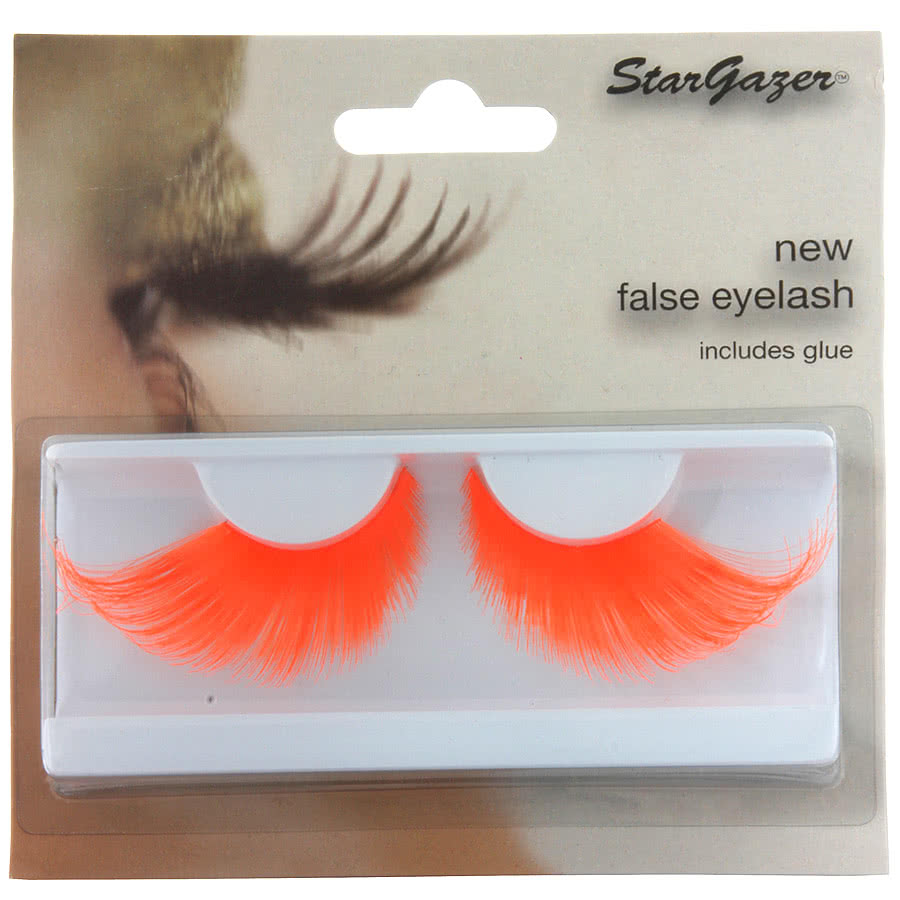Stargazer Neon False Eyelashes (Orange)