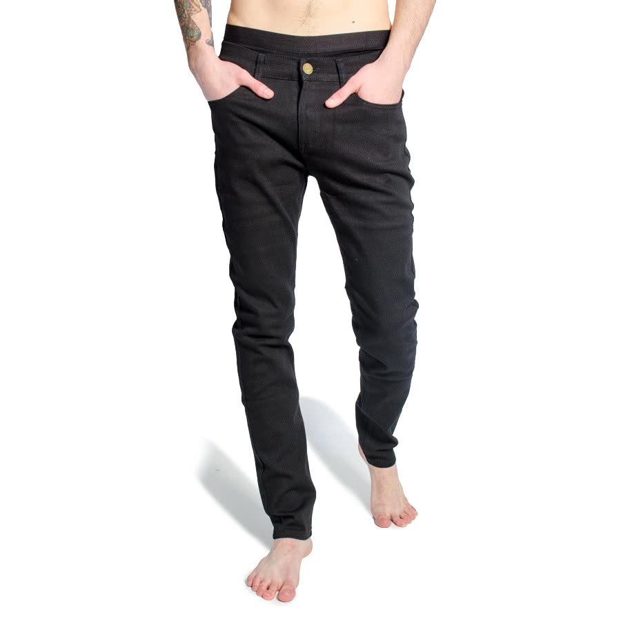 Criminal Damage SOS Short Skinny Jeans (Black)