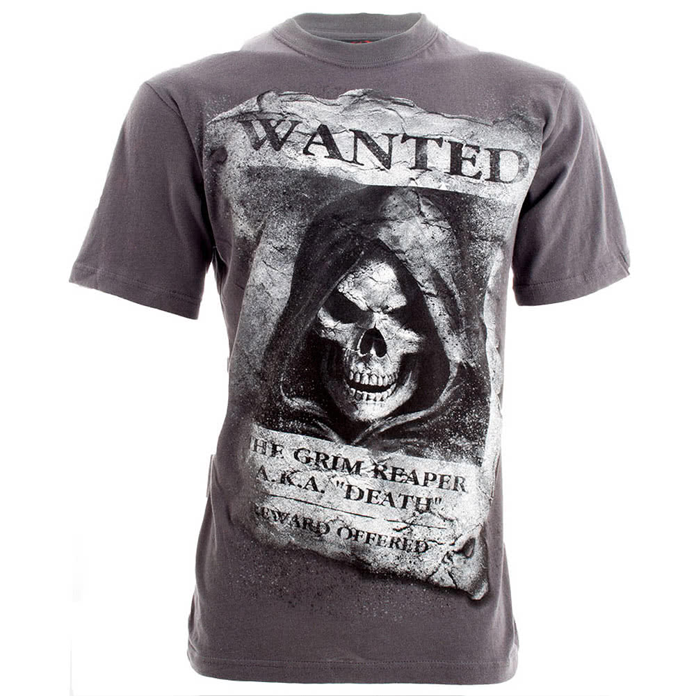 Spiral Direct Wanted T Shirt (Charcoal)