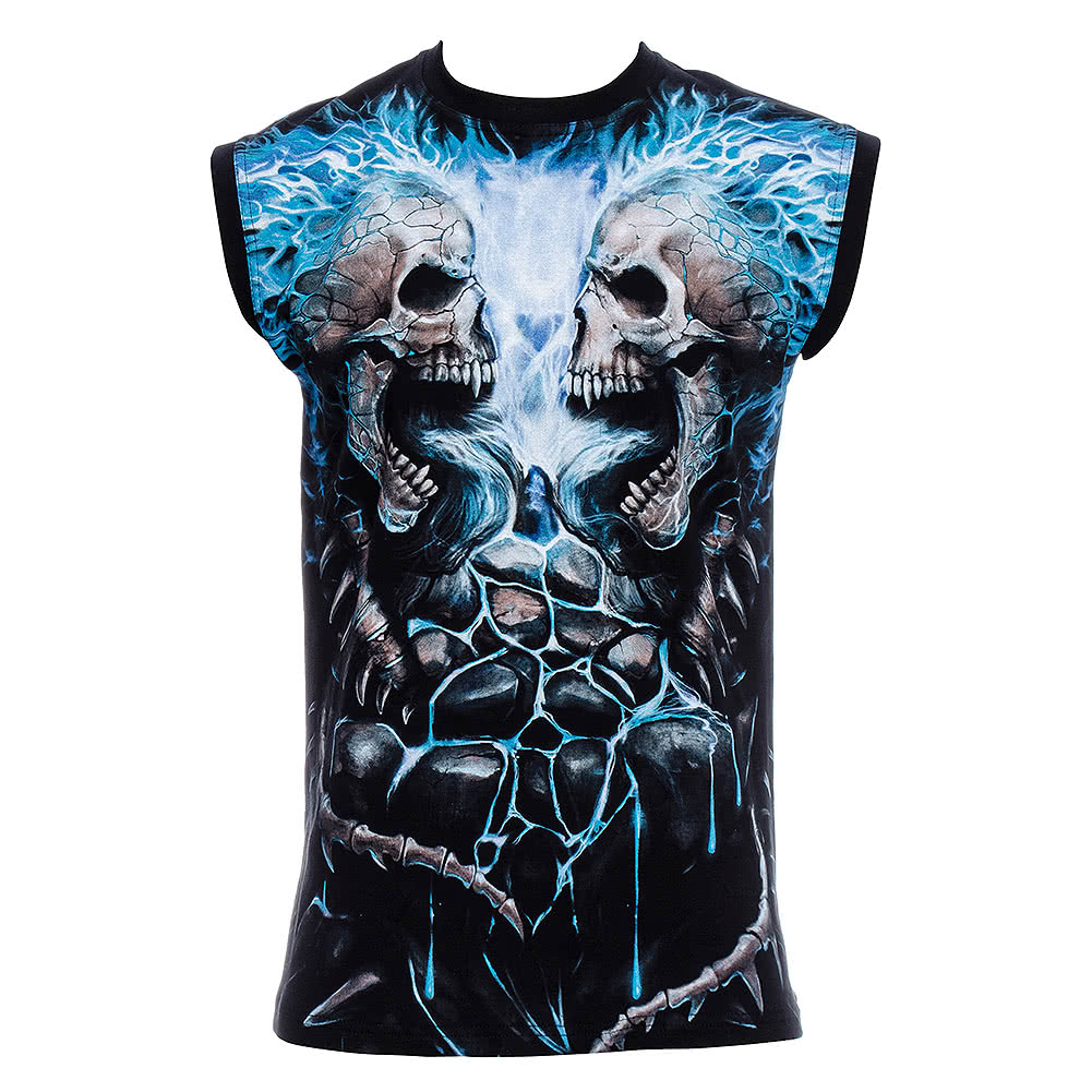 Spiral Direct Flaming Spine Tank Top (Black)