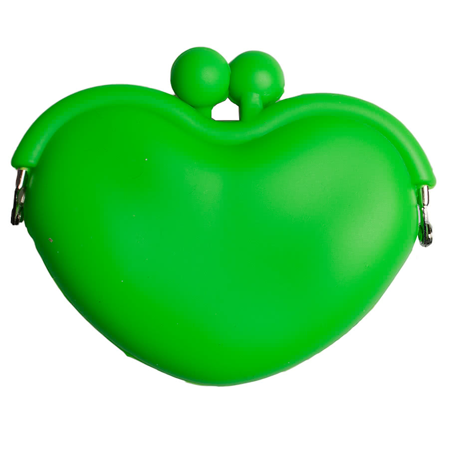 Blue Banana Heart Clasp Purse (Green)
