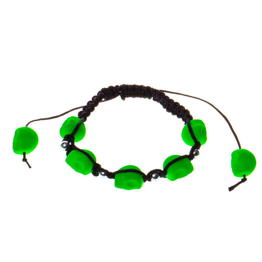 Blue Banana 7 Skulls UV Bracelet (Green)