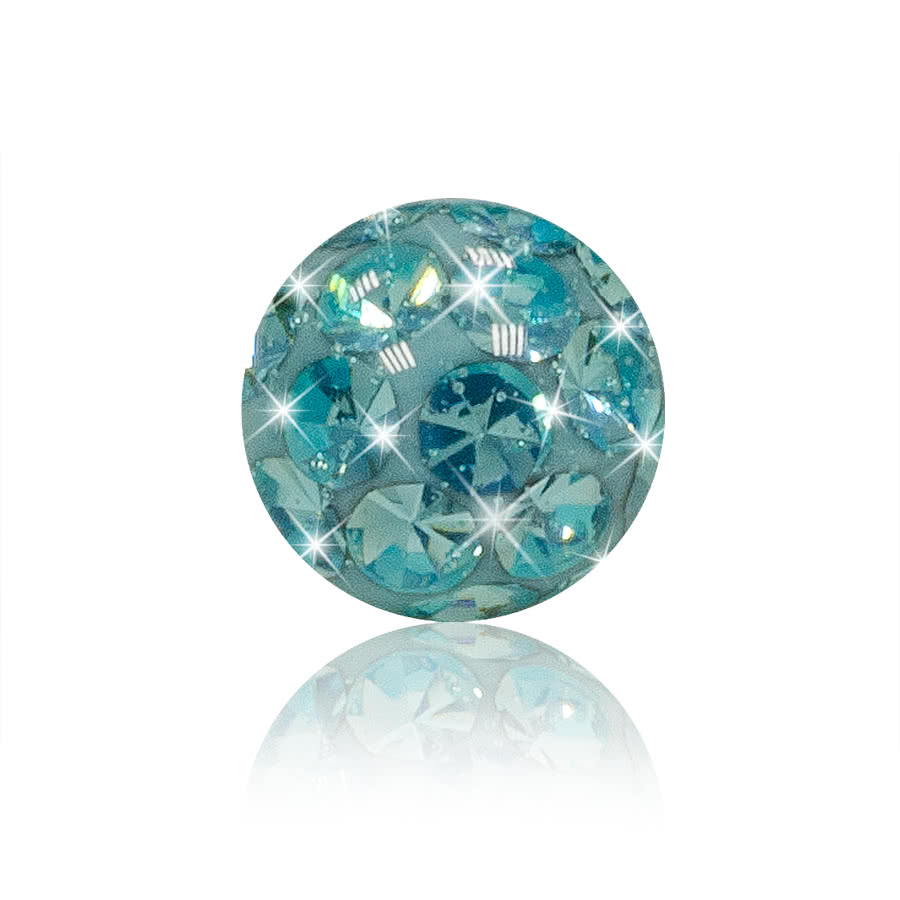Crystal 5mm Glitter Ball (Aqua)