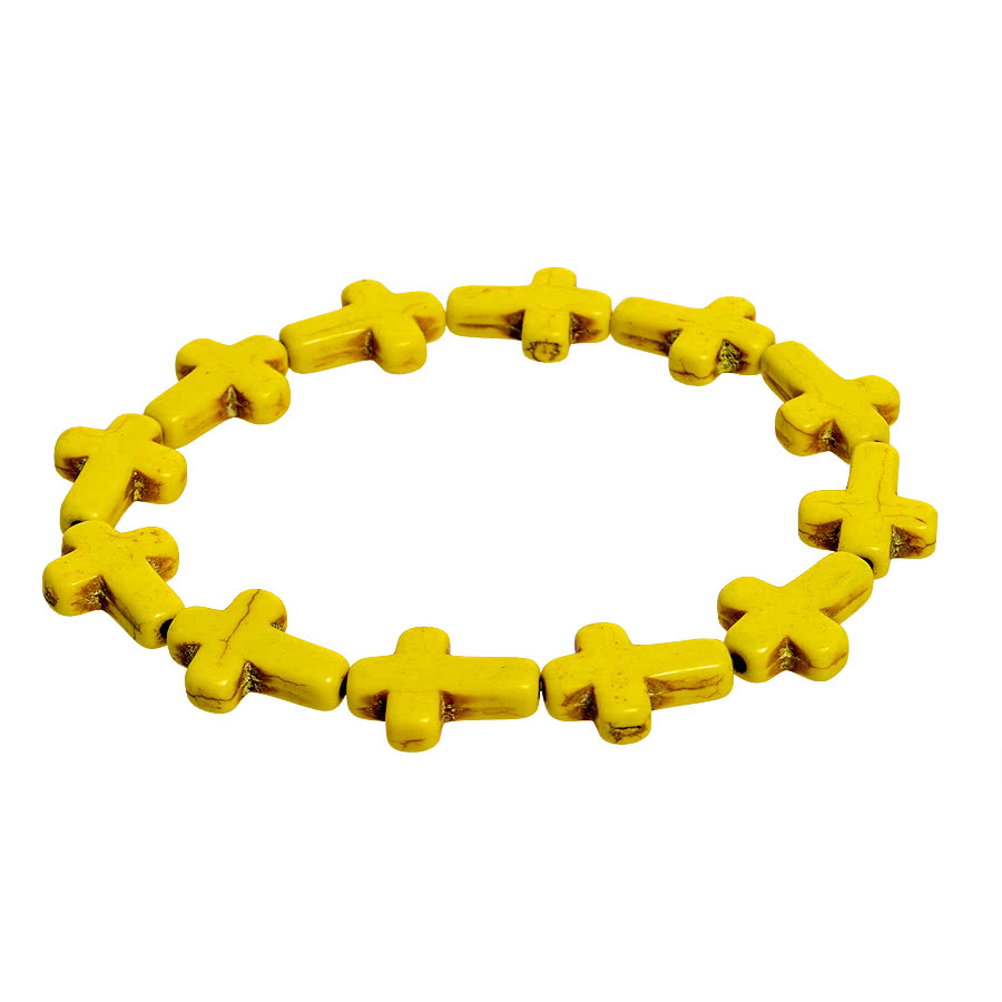 Blue Banana Expanding Cross Bracelet (Yellow)
