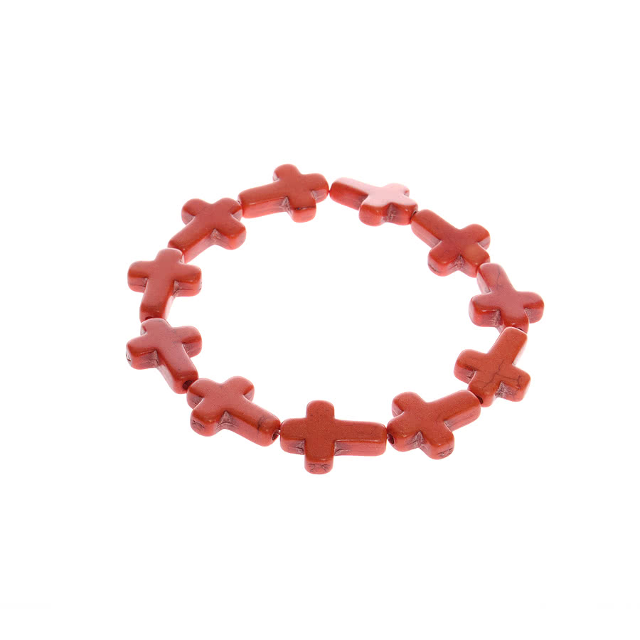 Blue Banana Cross Expanding Bracelet (Orange)