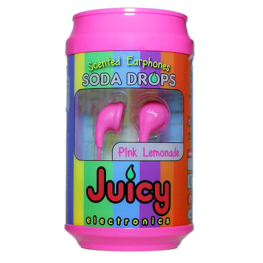 Juicy Electronics Soda Drops Pink Lemonade Earphones (Pink)
