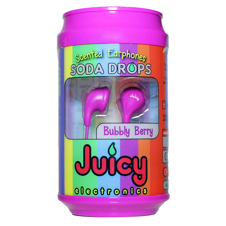 Juicy Electronics Soda Drops Bubbly Berry Earphones (Purple)