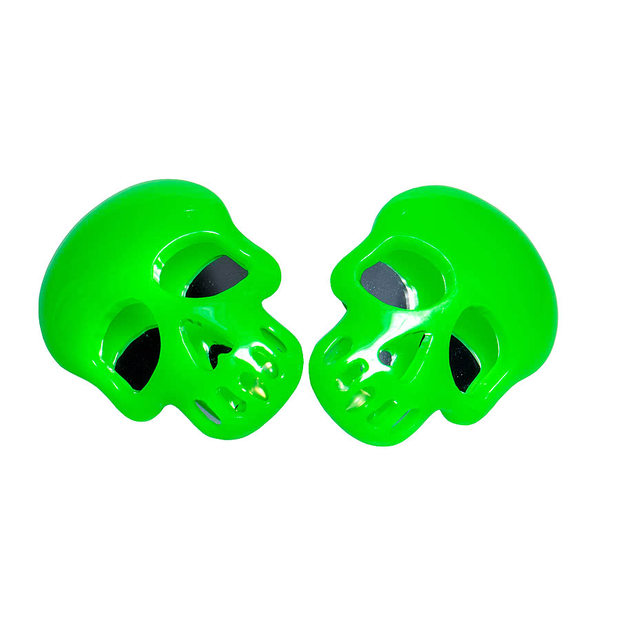 Blue Banana Skull Earrings (Green)