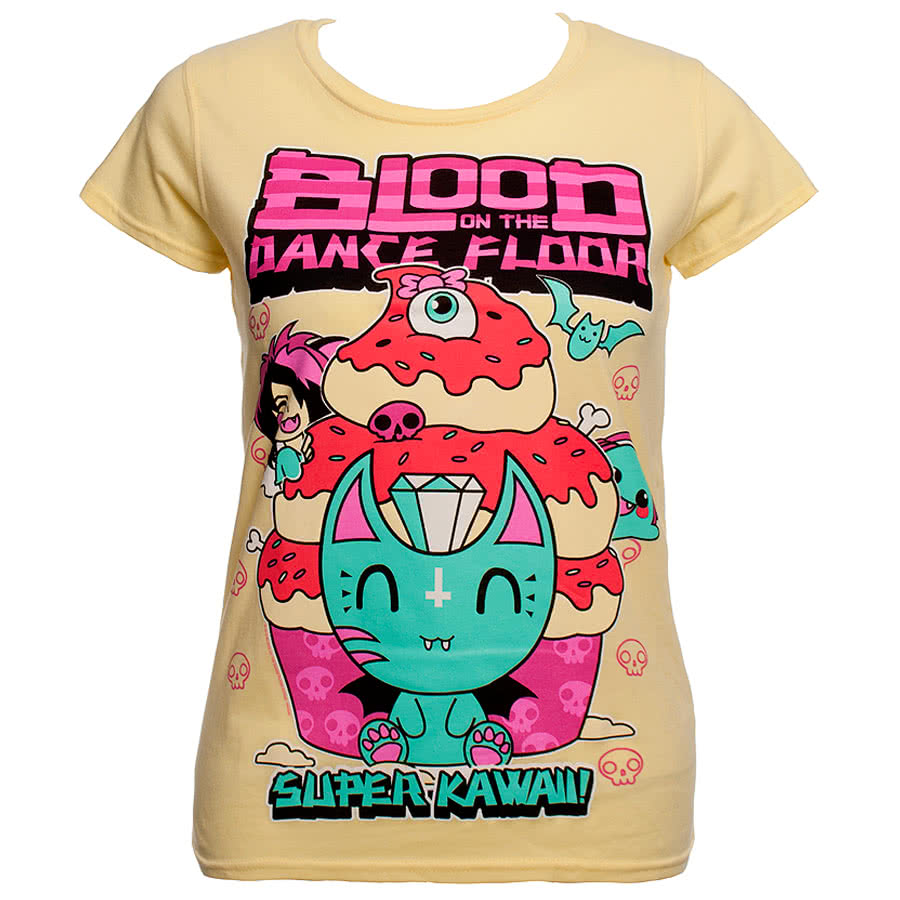 Blood On The Dance Floor Kawaii Skinny Fit T Shirt (Yellow)