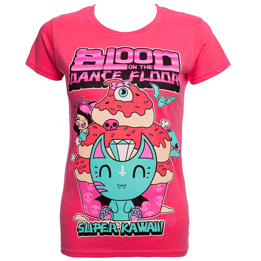 Blood On The Dance Floor Kawaii Skinny Fit T Shirt (Pink)