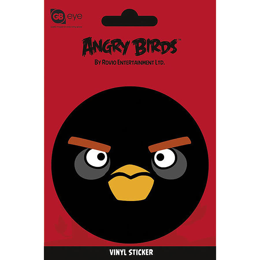 Black Bird Angry Bird Vinyl Sticker