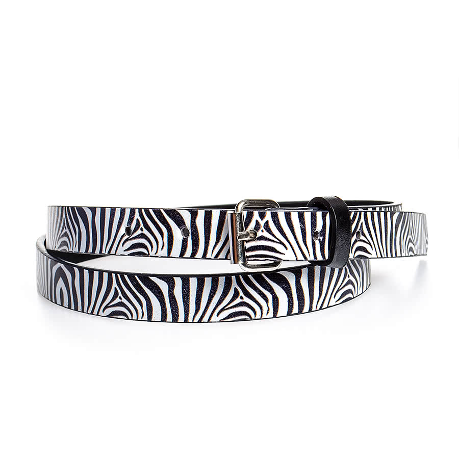 Blue Banana Zebra Belt (Black/White)