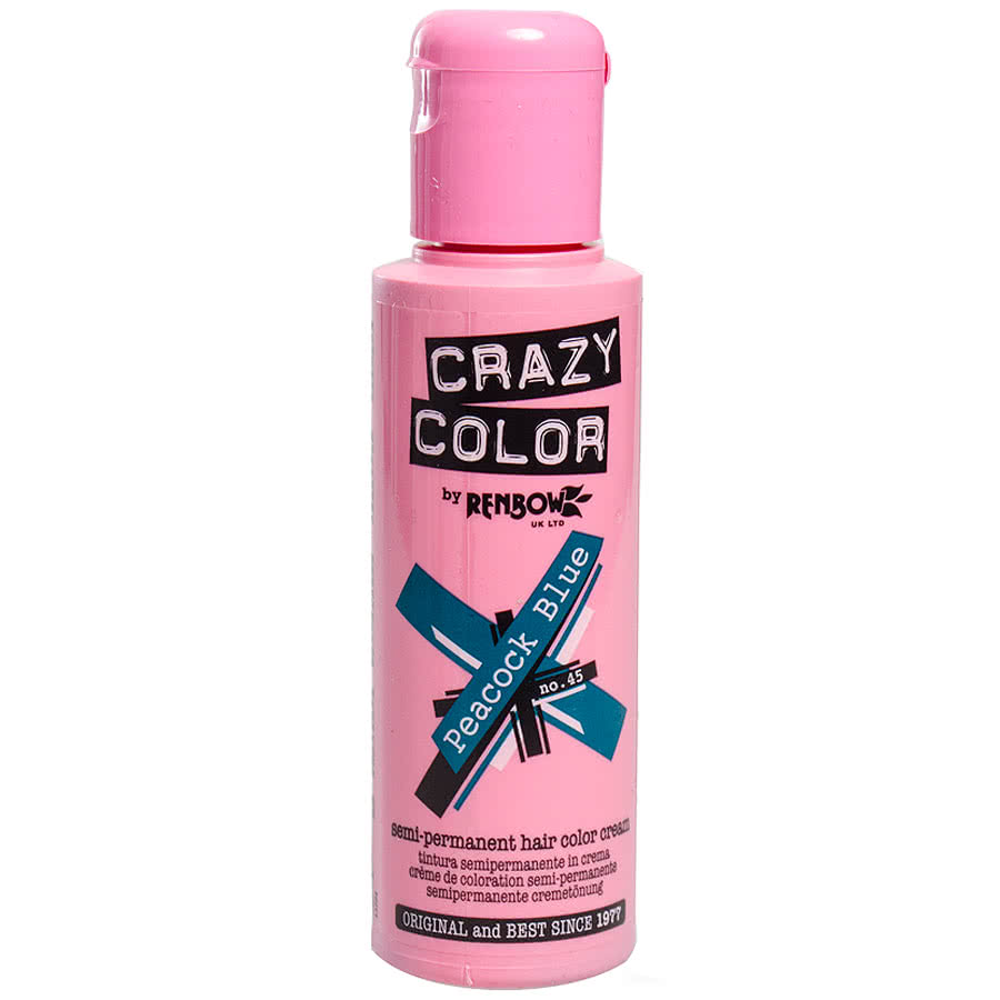 Crazy Colour Peacock Blue Semi-Permanent Hair Dye