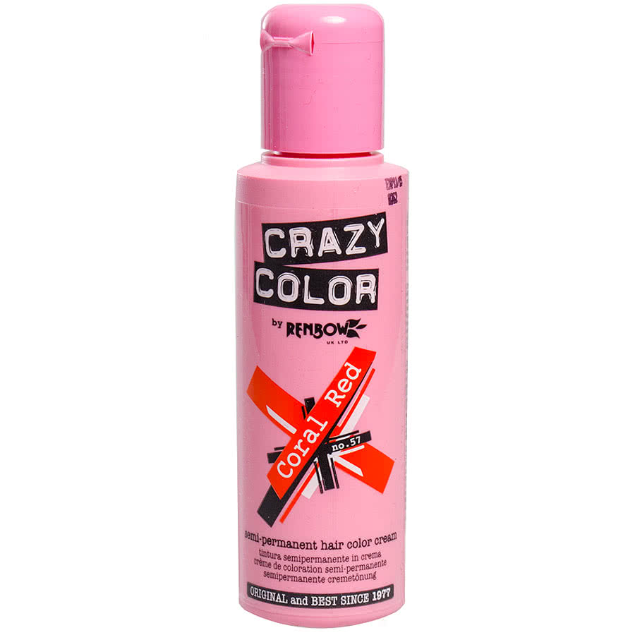Crazy Colour Coral Red Semi-Permanent Hair Dye
