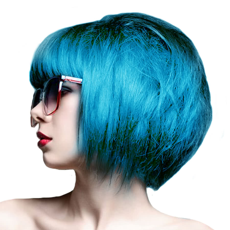 Crazy Color Semi-Permanent Hair Dye 100ml (Bubblegum Blue)