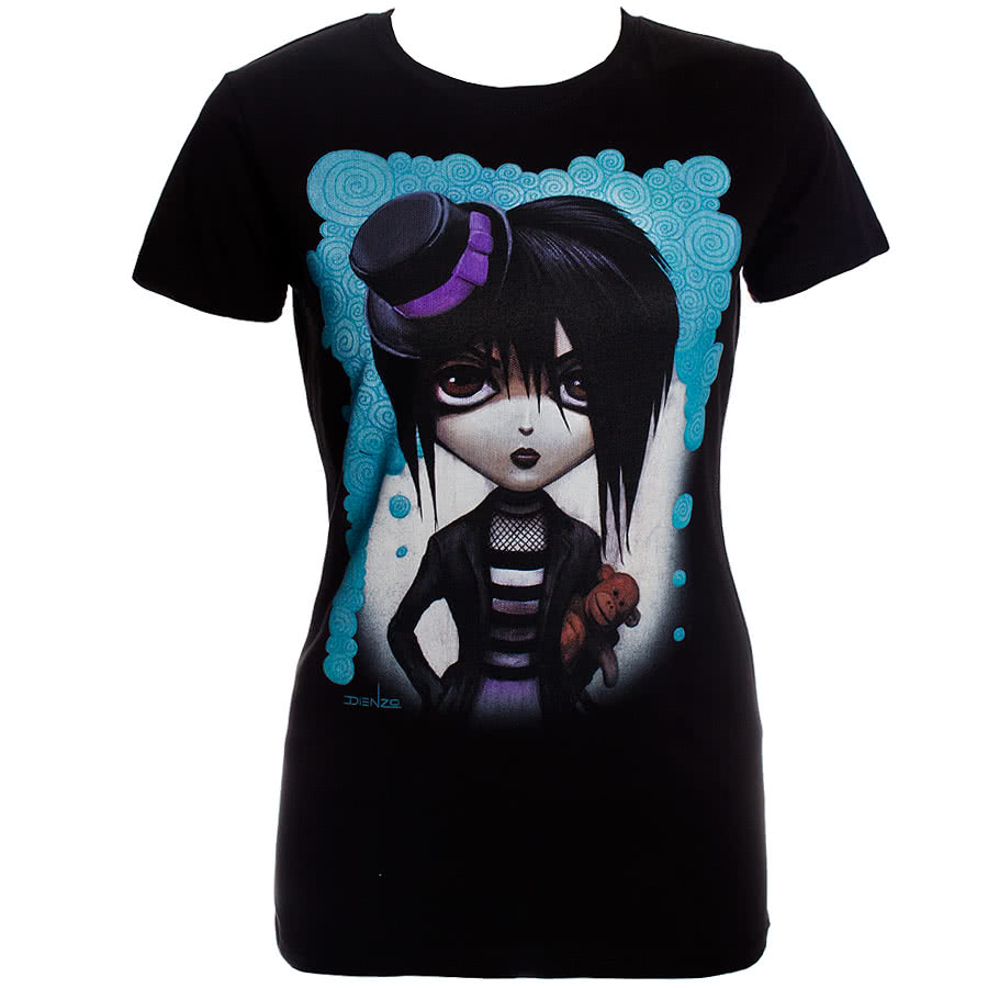 Lowbrow Felicia Skinny Fit T Shirt (Black)