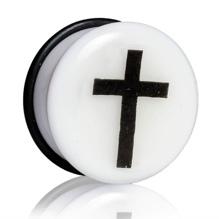 Blue Banana Glow Cross Plug 6-12mm (White)