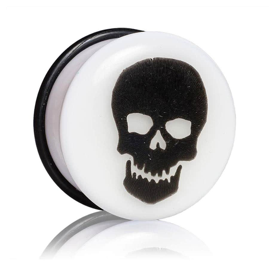 Blue Banana Glow Skull Plug 3-12mm (White)