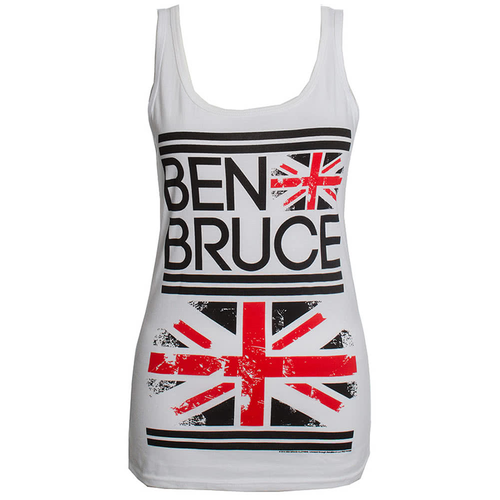 Ben Bruce Clothing by Asking Alexandria Flag Vest (White)