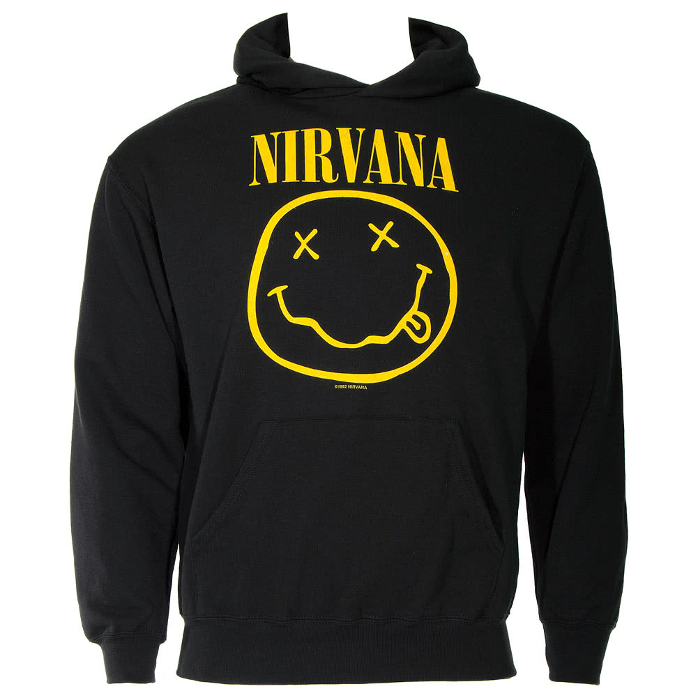 Nirvana Smiley Hoodie (Black)