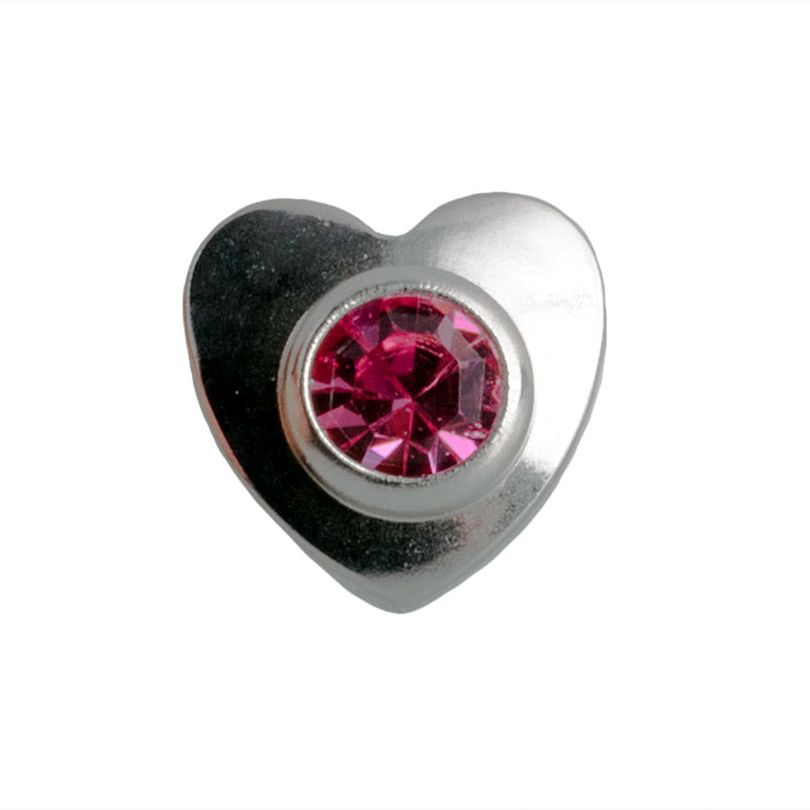 Blue Banana 3mm Dermal Top Heart (Rose)