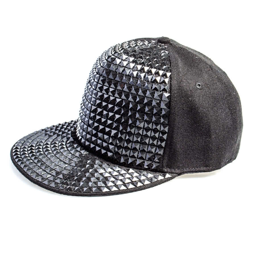 7X Collection All Over Studded Hat (Black)