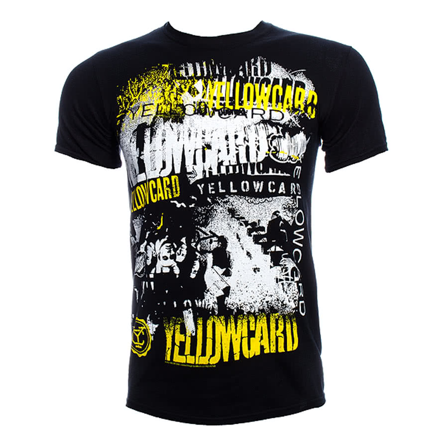 Yellowcard Collage T Shirt (Black)