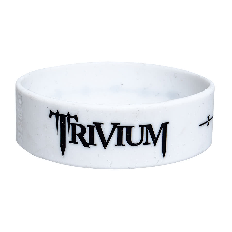 Rokk Bands Trivium Wave Wristband (White)
