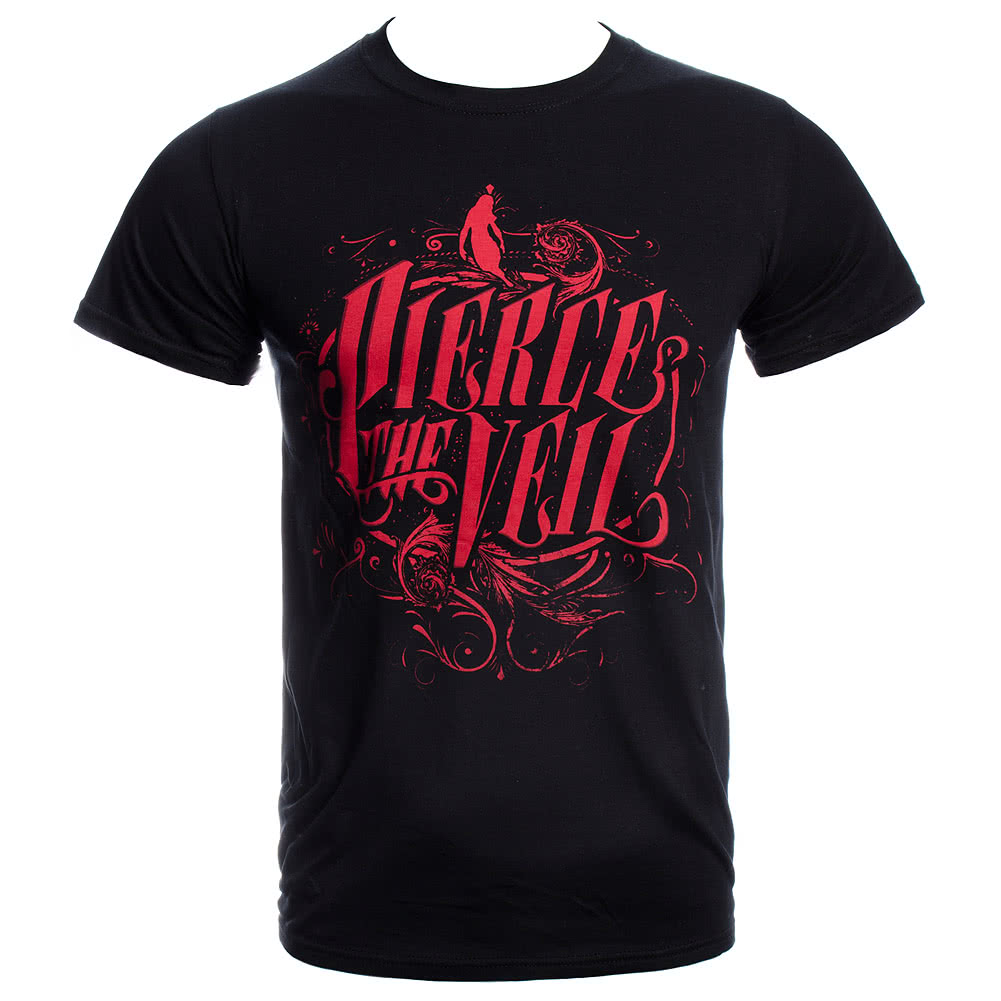 Pierce The Veil Logo T Shirt (Black/Red)