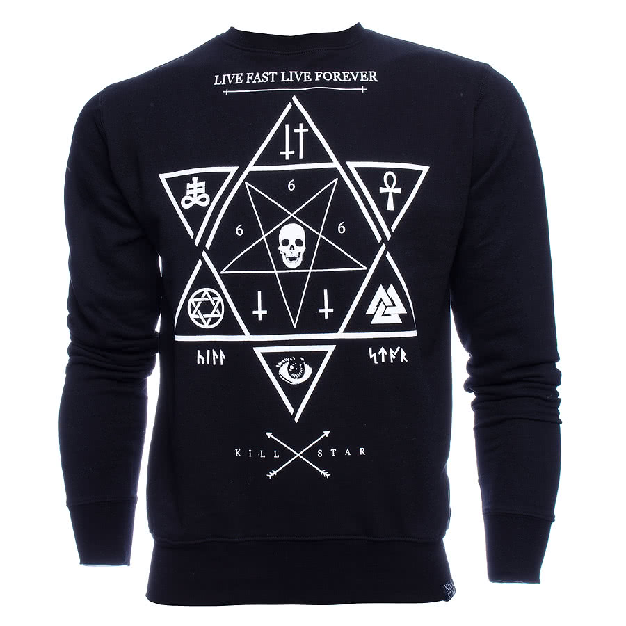 Kill Star Witchcraft Sweatshirt (Black)