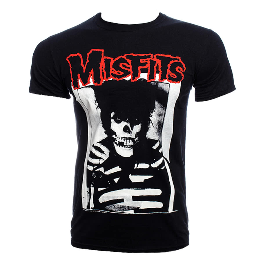 Misfits Bloody GD Skull T Shirt (Black)
